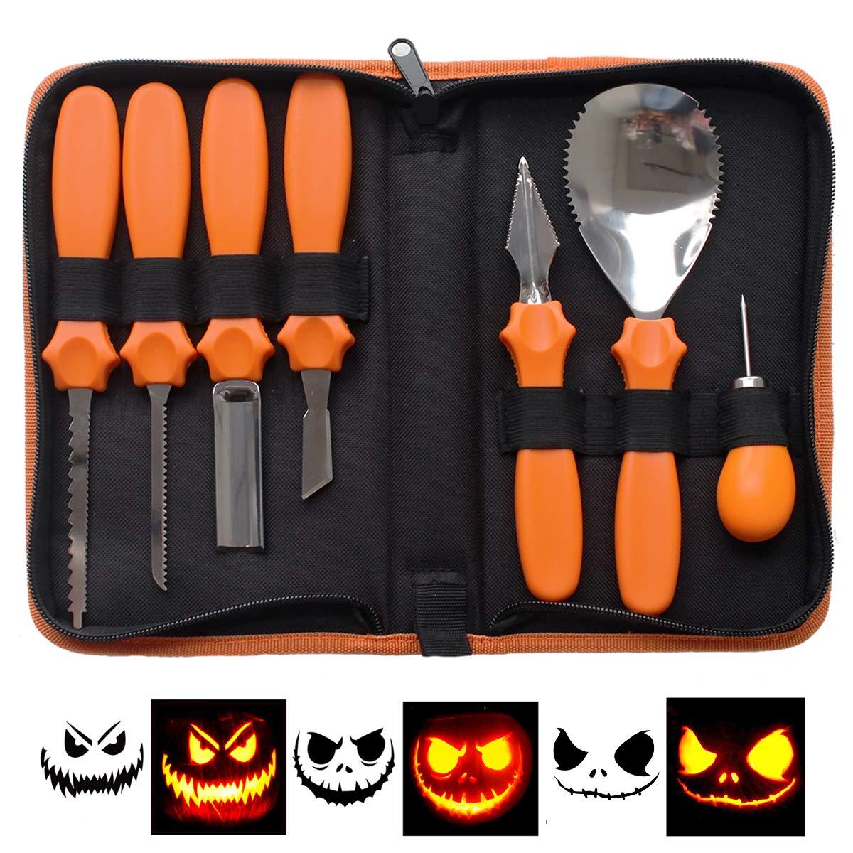 Kit profesional de herramientas de tallado de calabazas de Halloween