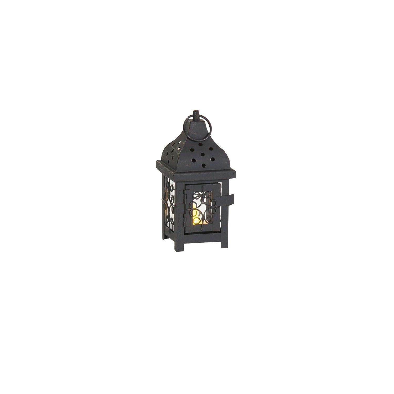 Greemotion Laterne Samira incl. LED Kerze H18cm Samira, Schwarz 626079