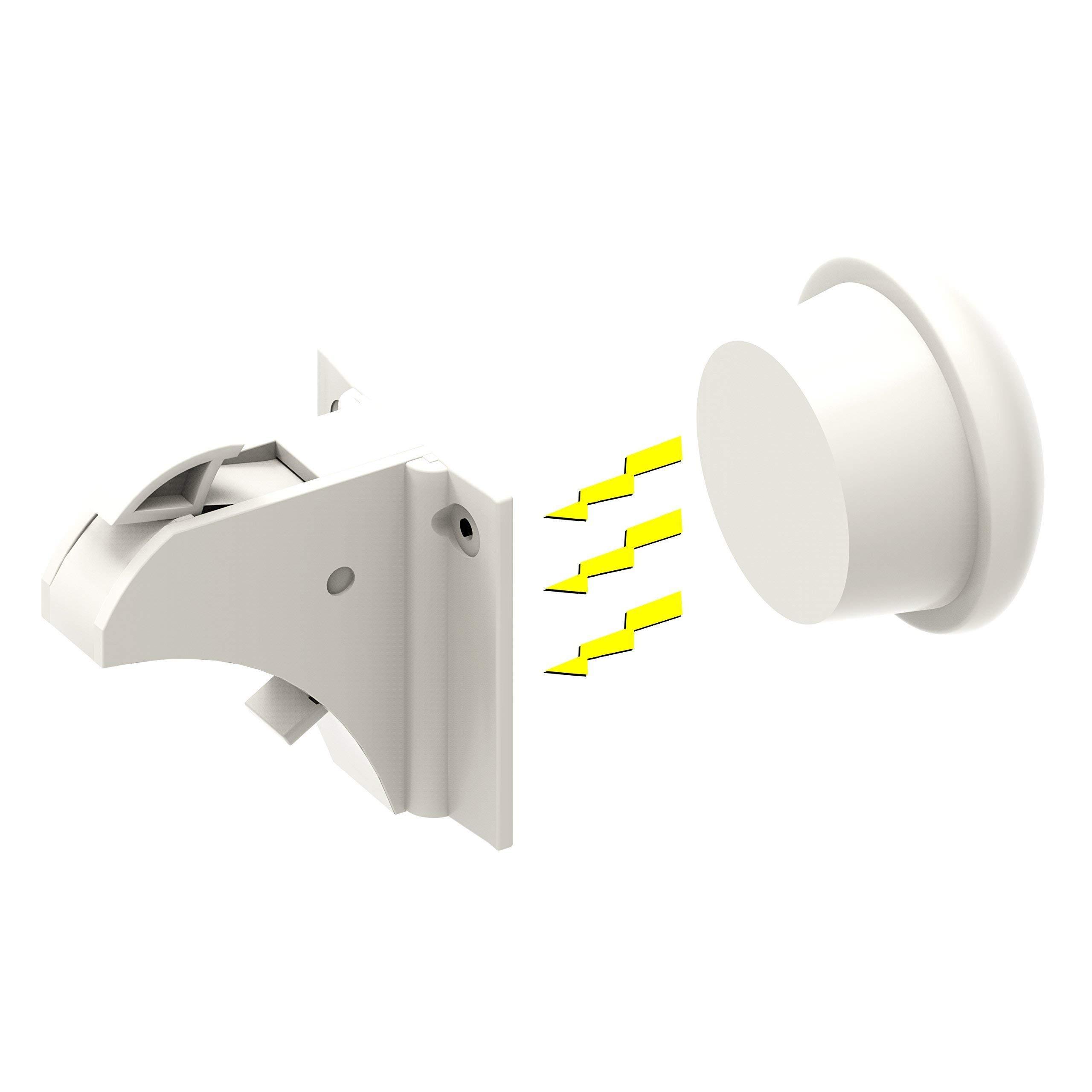 Magnetic Cabinet Locks -Baby Safety Child Proof Cabinet & Drawers -12 Locks + 3 Keys + Installation Cradle