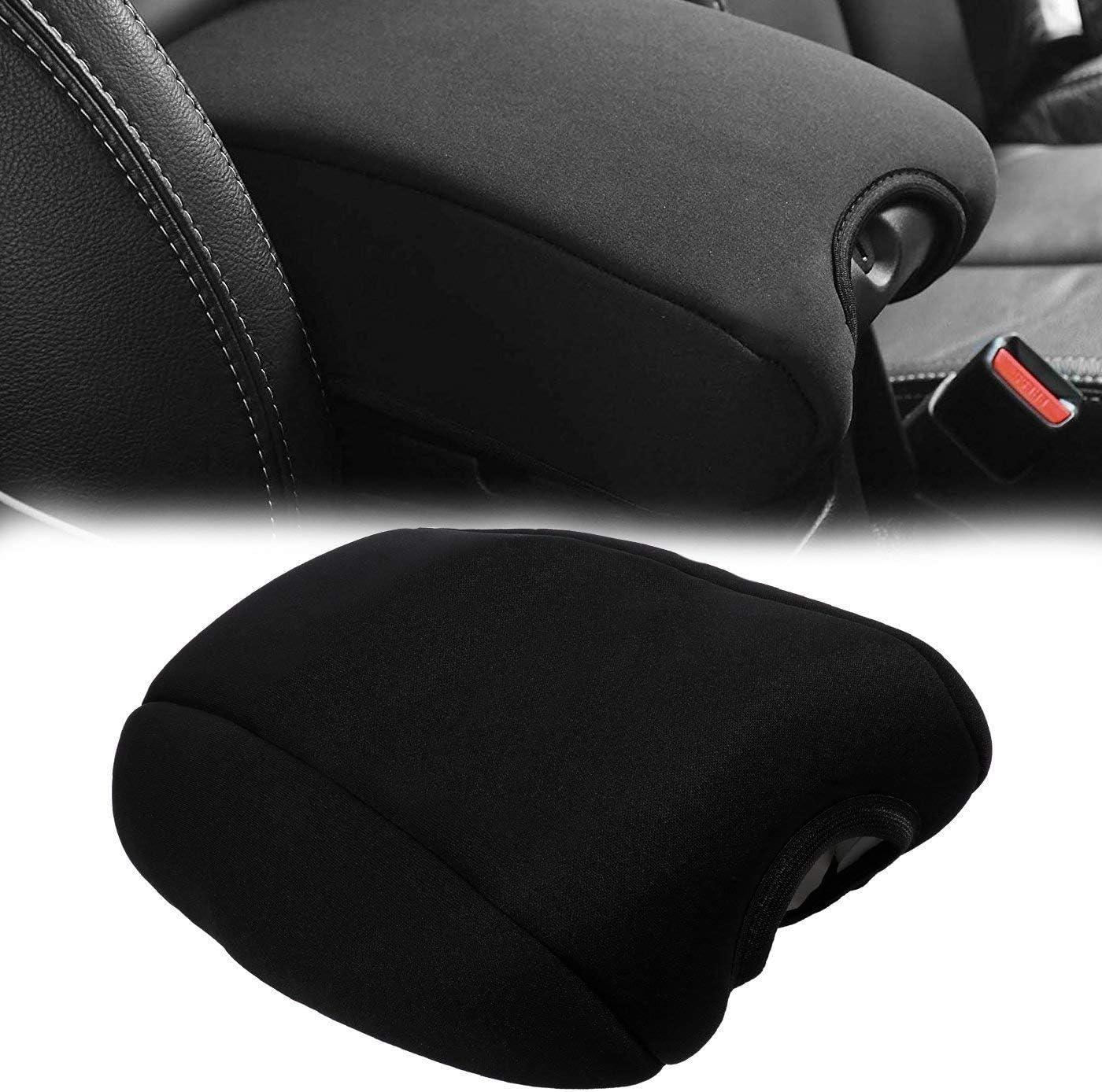 Sunluway Center Console Armrest Pad Cover Neoprene Protector Cushion Car Seat Side Pocket Storage Organizer for Jeep Wrangler JK JKU Sahara Sport Rubicon x Unlimited 2011-2018