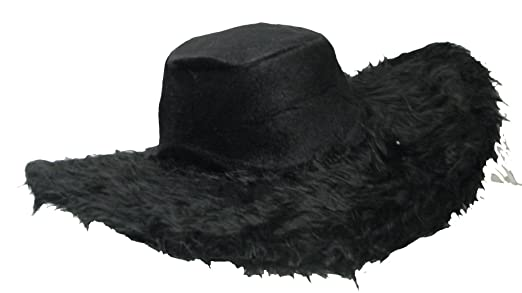 300def4e4f5 Big Daddy Adult Pimp Hat Black Plush With Wired Edge For Shaping Sc 1 St  Amazon.com