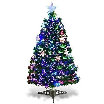 Image Unavailable - Amazon.com: Goplus 3FT Pre-Lit Fiber Optic Artificial Christmas Tree