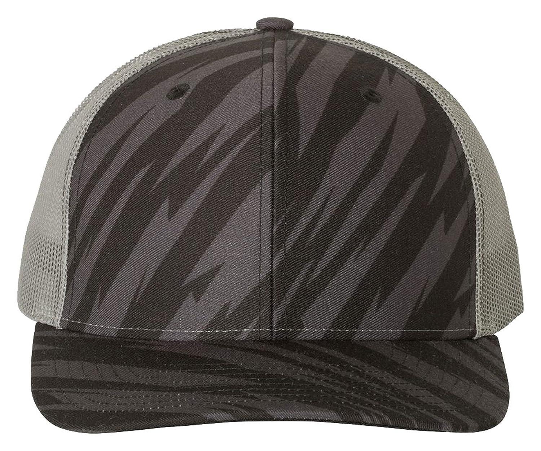 Richardson HAT メンズ B0778CR21M  Streak Black/ Charcoal Adjustable