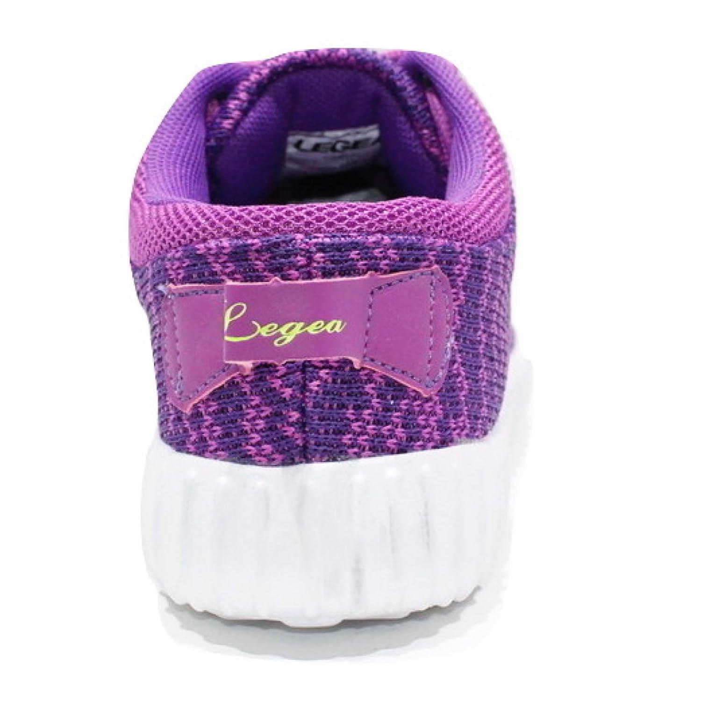 LEGEA Scarpe Donna Masa Ginnastica Sneakers Leggere Viola/Giallo Fluo (37) ke0rHS