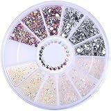 Born Pretty 1 Boîte Carrousel Studs Strass Coloré en Résine pour Nail Art Manucure #32870