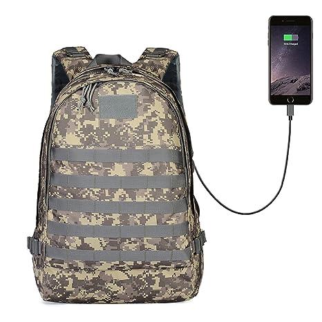 2cd5d0801e0 GinCuky PUBG Backpack Travel Bag Hiking Bag Camping Bag Rucksack,Waterproof Travel  Backpack with USB