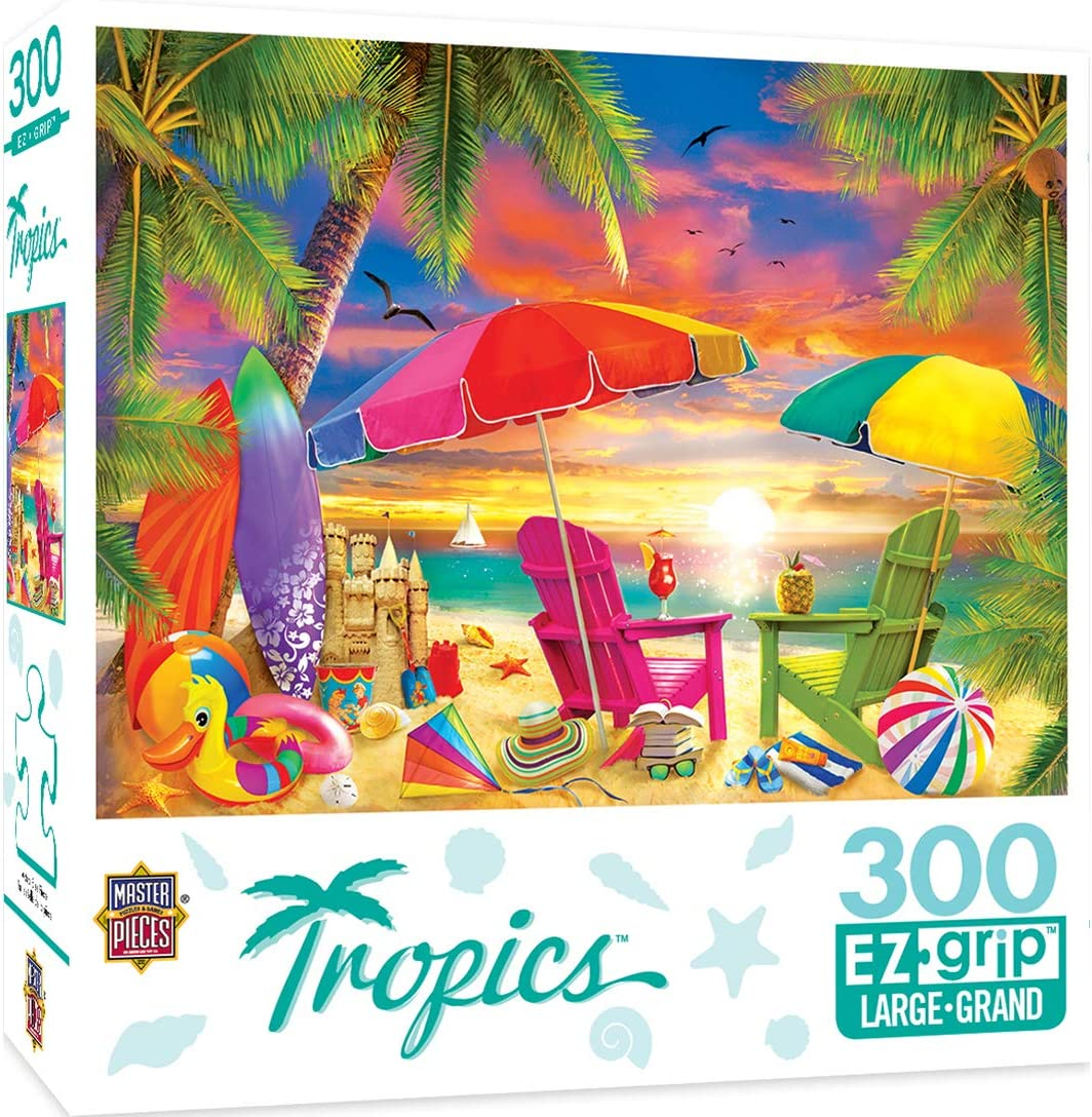MasterPieces Tropics 300 Puzzles Collection - Seaside Afternoon 300 Piece Jigsaw Puzzle