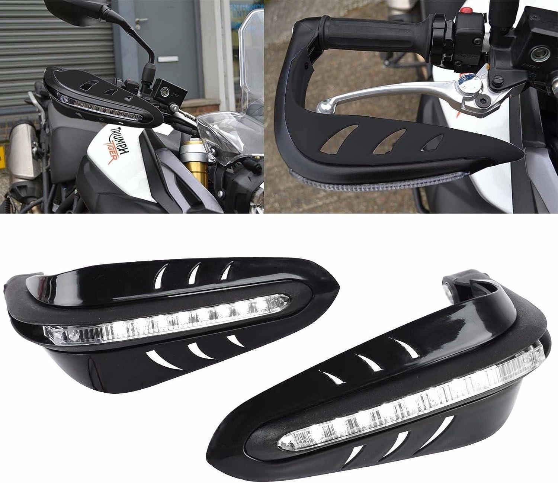"2Pcs 7//8/"" Dirt Bike Motorcycle Led DRL Turn Signal Brush Bar Handguards US"