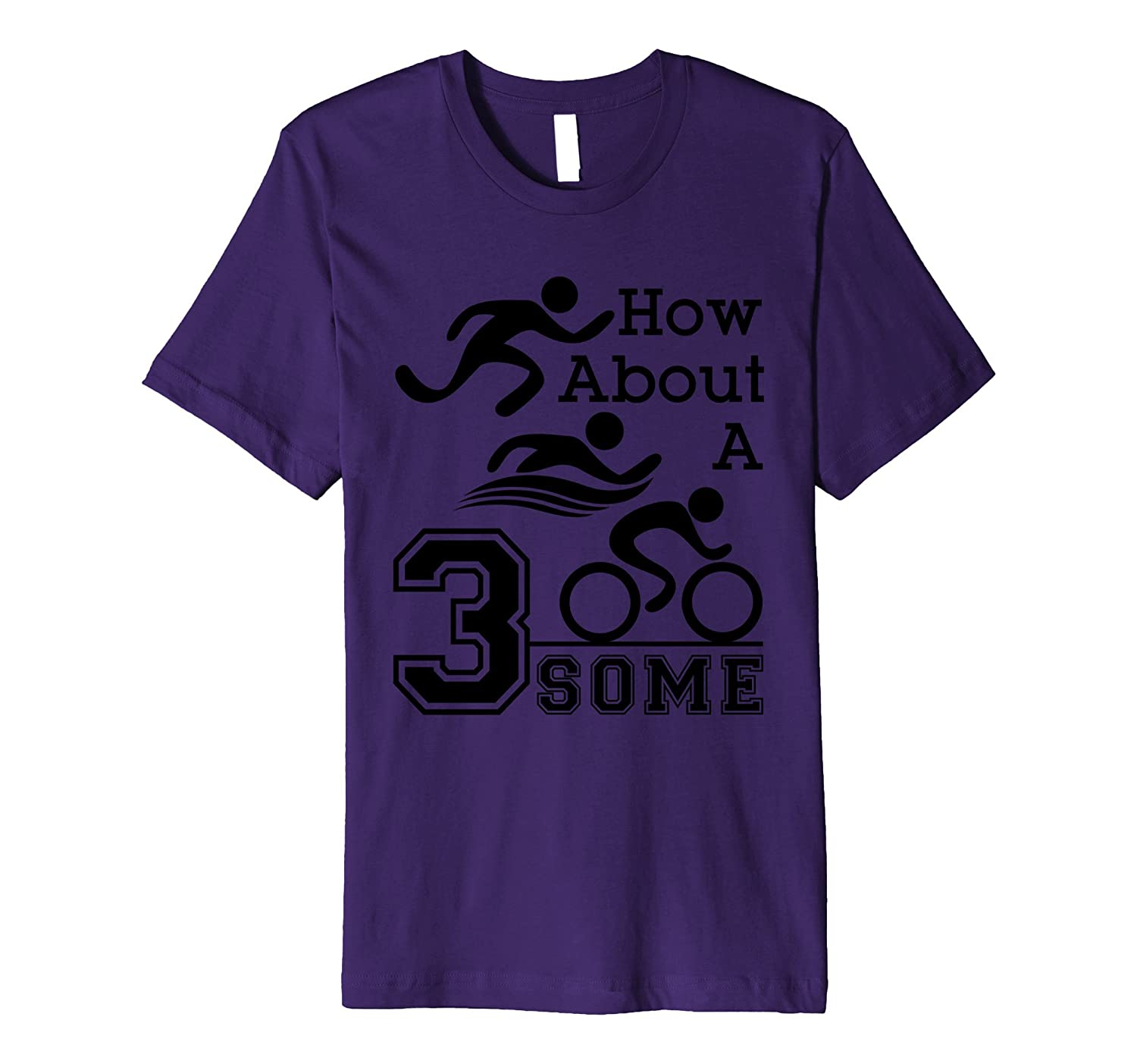 Triathlon Gear – Funny T Shirt – Swim, Bike, Run Threesome