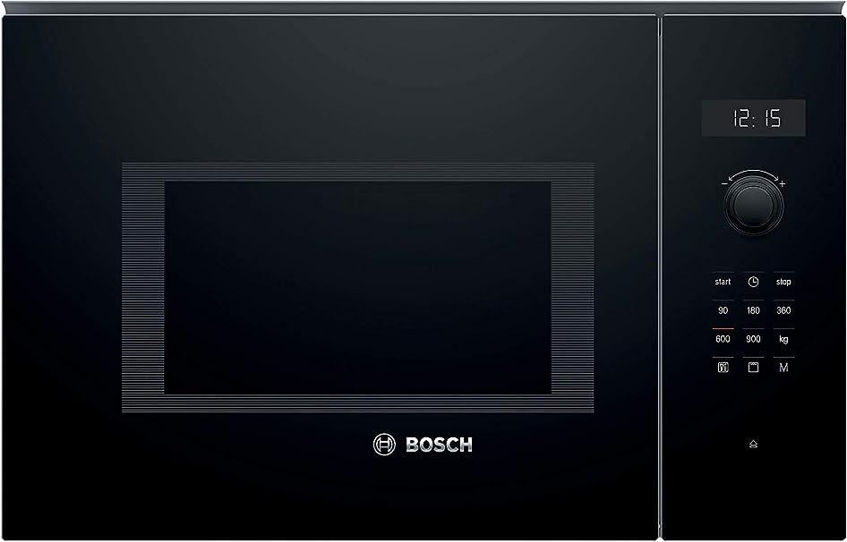 Oferta amazon: Bosch Serie 6 BEL554MB0 - Microondas integrable, 382 x 594 x 388 mm, Potencia 900 W, Con grill de 1200 W, 25 litros de capacidad, Color negro