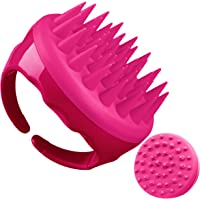Soaab Shampoo Brush Scalp Massager Exfoliating Brush, Soft Silicone Brush with Body Brush Massage Brush Attachment (Pink)