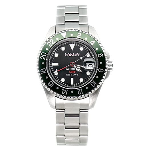5ed476431a9 Nautec No Limit Gents Watch Deep Sea DS GMT/STGR: Amazon.co.uk: Watches