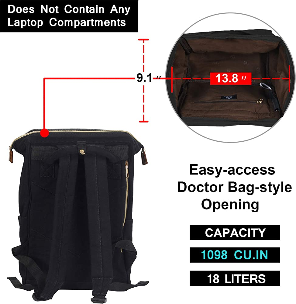 Veegul Stylish Doctor Style Multipurpose Travel Backpack Everyday Backpack for Men Women