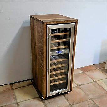 Hervorragend 2 Zonen Weinkühlschrank Mit Fassholz Von Alten Weinfässern (Eiche) Von  Handgefertigt, Für 27 Flaschen Einzelstück, Sehr Leise Und Rollbar, ...