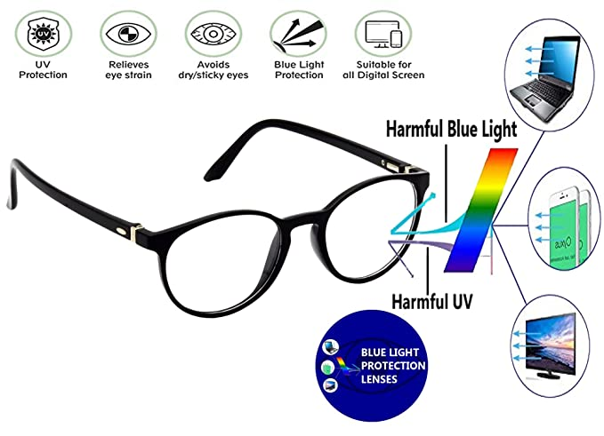 3937508df8 Hrinkar Oval Cat-Eyed Full Rim Latest Optical Spectacle Chasama With Blue  Cut Lens For
