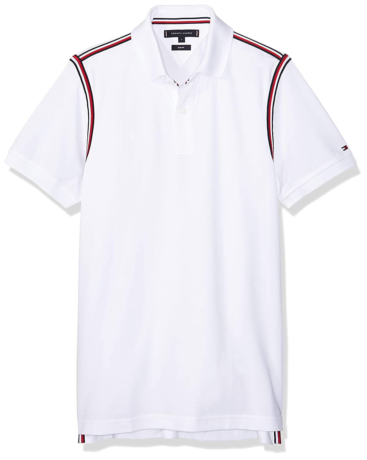 TOMMY HILFIGER Men - Pure cotton slim fit polo shirt - Size XL ...