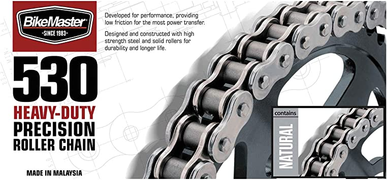 BikeMaster 520 Heavy Duty Precision Roller Motorcycle Chain 520H X 120 Gold