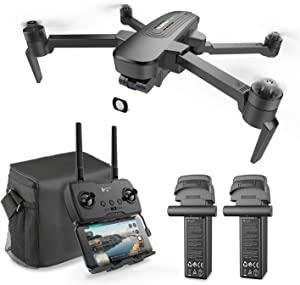 HUBSAN ZINO Pro plus drone great for Adult ,4k drone with 5.8G WiFi FPV 8KM Transmission GPS RC Quadcopter with Brushless Motors, Auto-Return, Altitude Hold(two Batteries and a Bag)