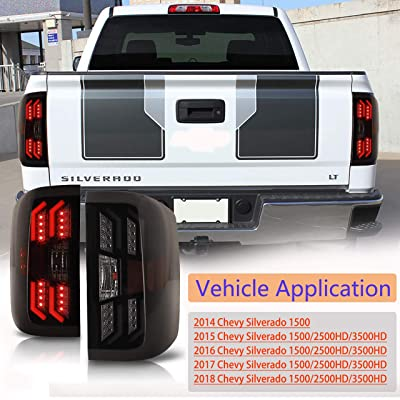 Tail Lights for 2014-2020 Chevy Silverado 1500 & 2015-2020 Chevy Silverado 2500HD/3500HD, AUTOFREE LED Tail lamps Replacement for Chevy Pickup(Left and Right): Automotive