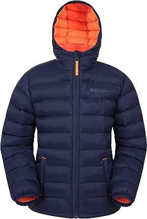 Mountain Warehouse Seasons Chaqueta Acolchada para niño - Chaqueta de Invierno Impermeable, Aislante, con Capucha y Relleno de Microfibra, el Abrigo Ideal para la Lluvia