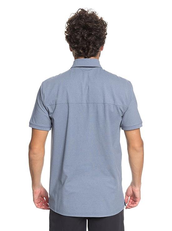 Quiksilver - Polo de Espalda para Hombre - Azul - X-Large: Amazon ...