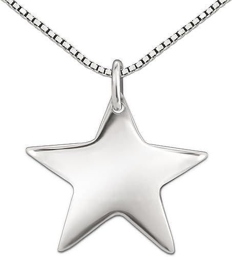925 Silber Kette mit Sternen Anhanger