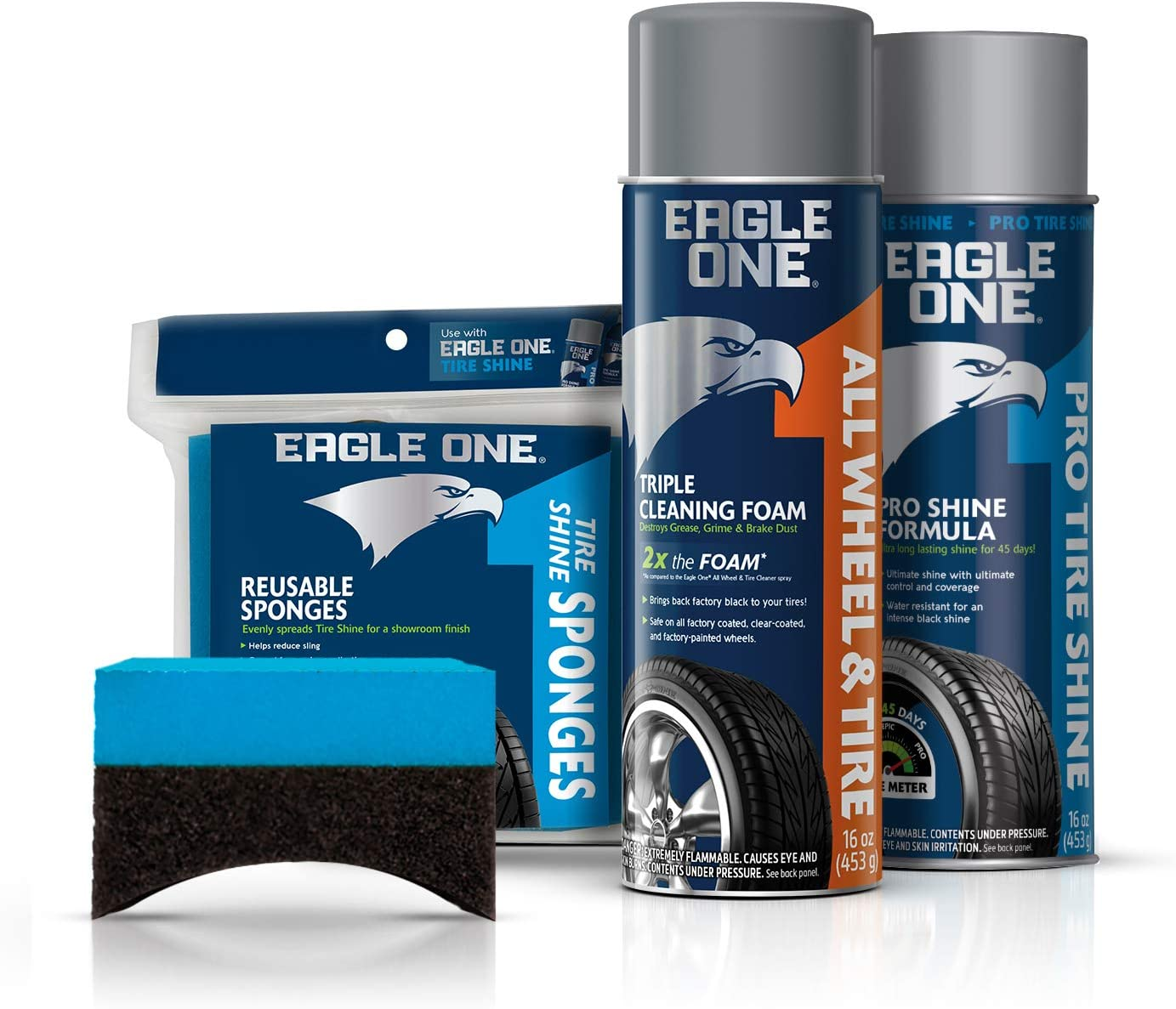 Eagle One Four-Piece Car Care Kit for Wheels and Tires