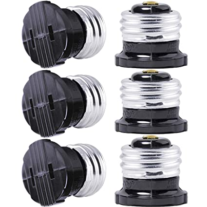 Tremendous Serbion 6 Pack E26 The Us Standard Screw Light Holder Plug Adapter Wiring Cloud Pimpapsuggs Outletorg