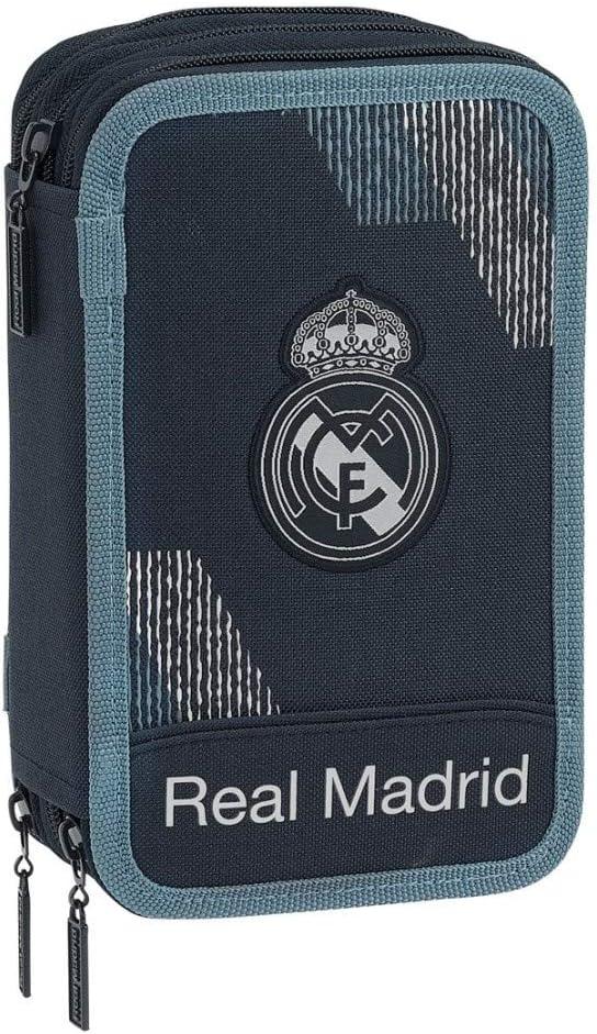 Safta Estuche Real Madrid, Juventud Unisex, Azul, 21 cm
