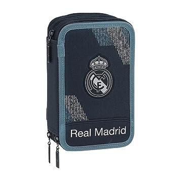 Safta- Estuche Real Madrid, Color Azul, 21 cm (411834057)