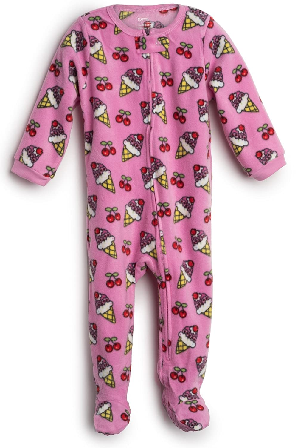 39fb33edff Amazon.com  Elowel Baby Girls Footed Fleece Sleeper Pajamas (Size  6M-5Years)  Clothing