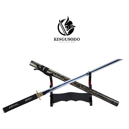 Amazon.com : KINGUSODO Ninja Samurai Sword, Handmade High ...