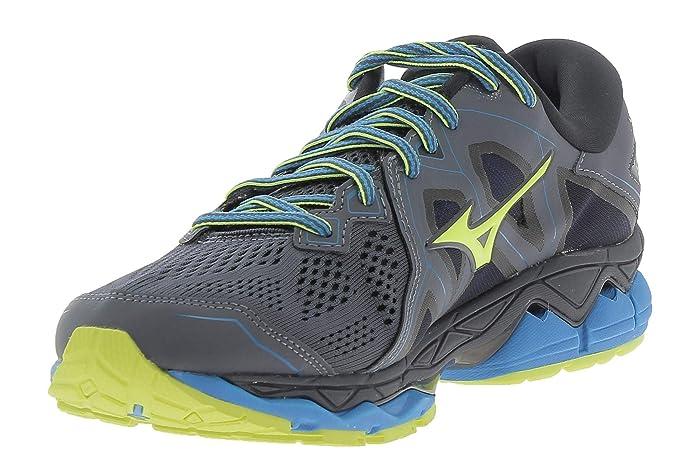 Mizuno Wave Sky 2, Zapatillas para Hombre, Multicolor (O Blue/Yellow/Black 001), 40.5 EU: Amazon.es: Zapatos y complementos