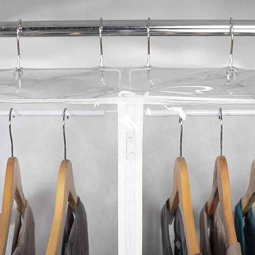 Amazon.com: Vinilo transparente framelss Bolsa para traje ...