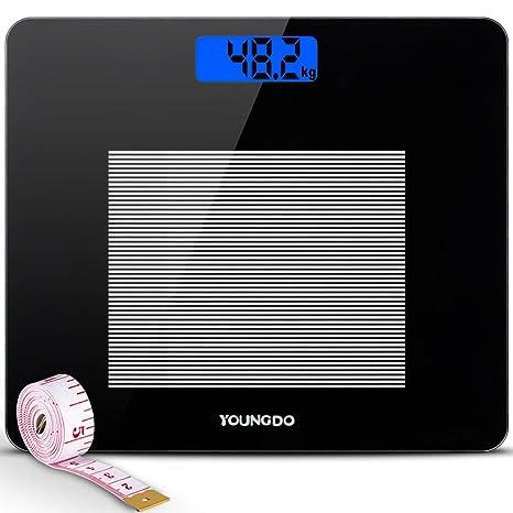 Báscula Digital Con LCD Pantalla, Báscula de Baño Digital de ...