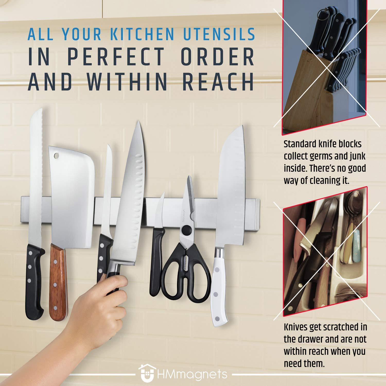 Amazon.com: 17 inch soporte magnético para cuchillos ...