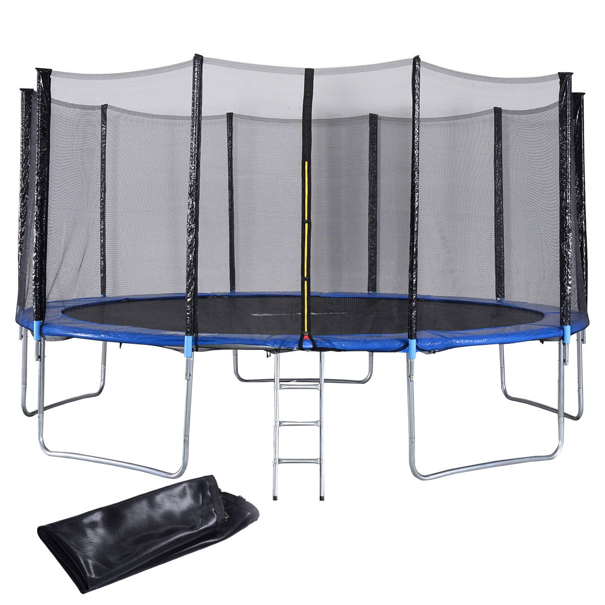 Giantex 15FT Trampoline Combo Bounce Jump Safety Enclosure Net W/Spring Pad Ladder (15FT)