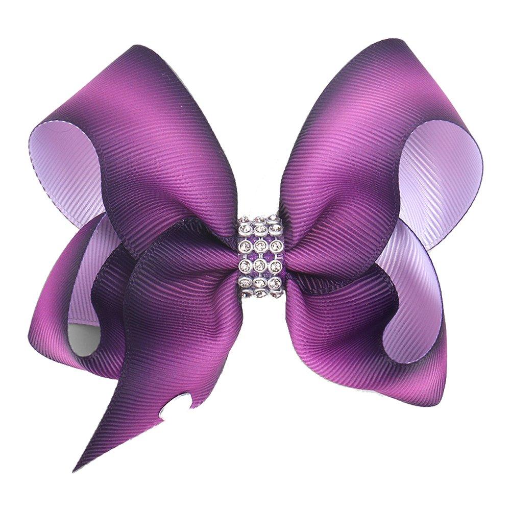 Sunvy Rainbow Princess Bowknot Hairpin Hair Clip Hairbow For Girls Kids Bride Headdress (#5)