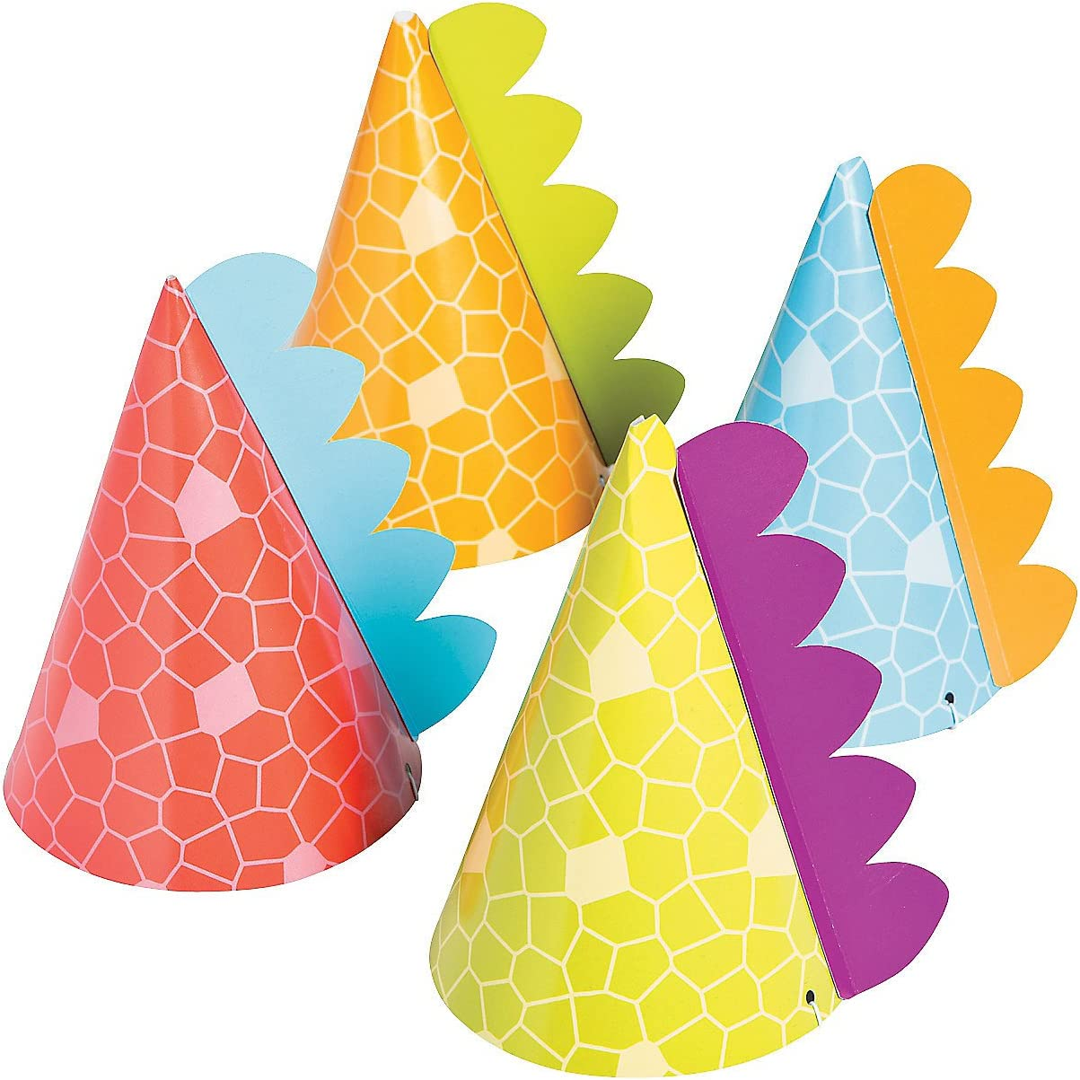 Little Dino Party Hats, 8 Count: Toys & Games