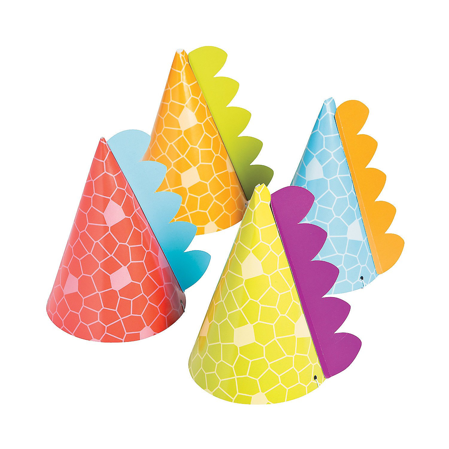 Little Dino Party Hats, 8 Count by Fun Express