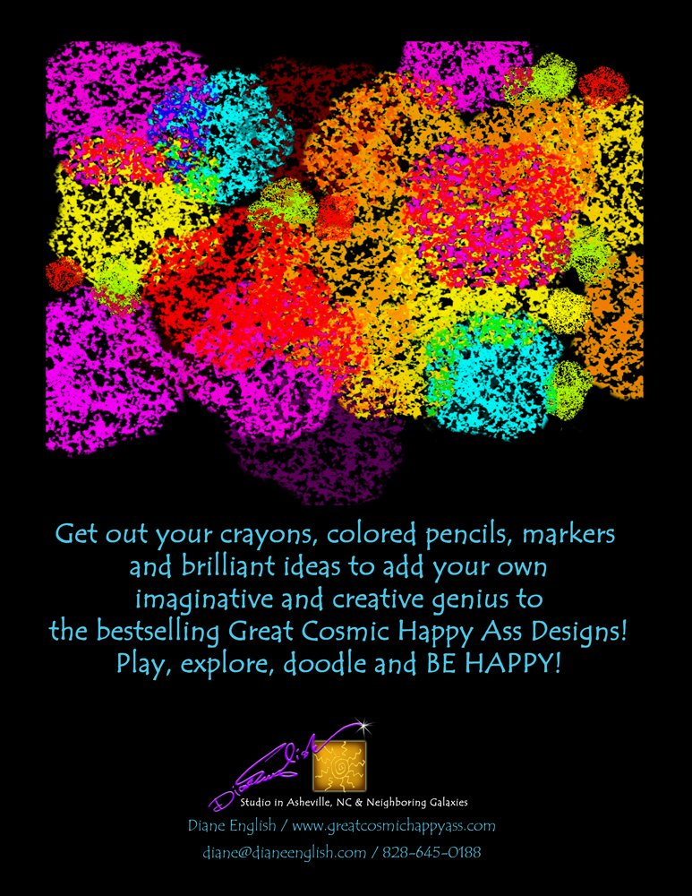The Great Cosmic Happy Ass Adult Coloring Book: Amazon.com ...