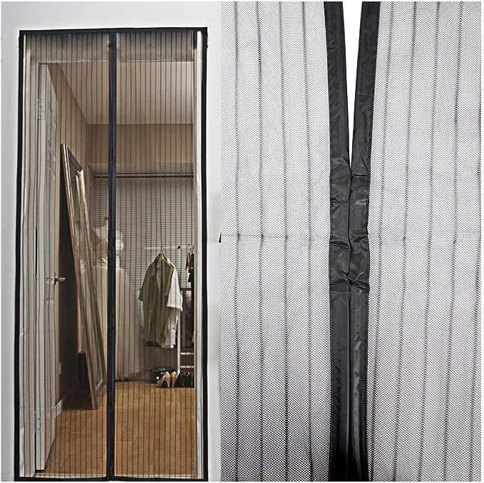 Selbst die abdichtung Magnetische fliegengitter fiberglas 85x210cm Heavy-Duty Windproof Aktualisiert-gr/ün 33x83inch TELLMNZ Fliegende m/ücken fernzuhalten Magnet fliegengitter t/ür insektenschutz
