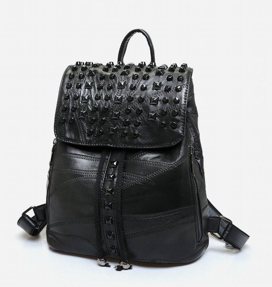 Leder-Schulter-Hosen-Art- und Weiseschulter-Beutel-Beiläufige Schaffell-Handtaschen , schwarz