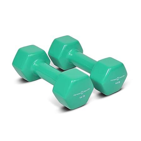 Fitness Republic Vinyl Coated Dumbbells Set Hex Hand Weights