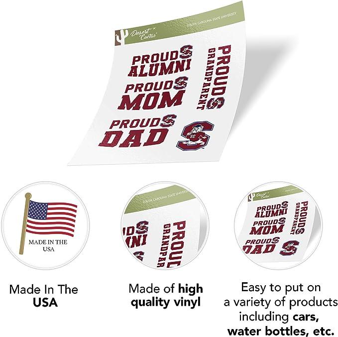 Sticker - 00003 South Carolina State University SCSU Bulldogs NCAA Vinyl Decal Laptop Water Bottle Car Scrapbook