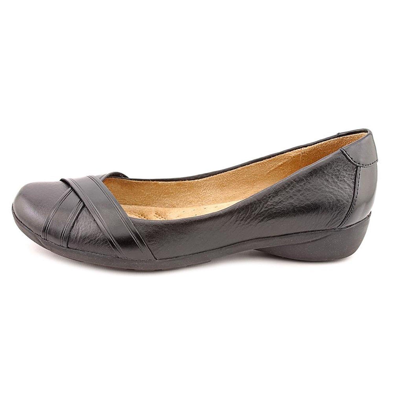 c3edc70eb08f4 Naturalizer Womens Nariko Closed Toe Slide Flats, Black, Size 7.0