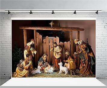 Amazon Com Aofoto 7x5ft Christ Birth Backdrop Jesus Nativity