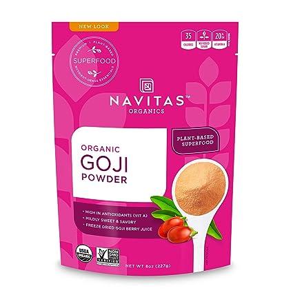 Navitas Organics Goji Powder 8 Oz Bag Organic Non Gmo Sun
