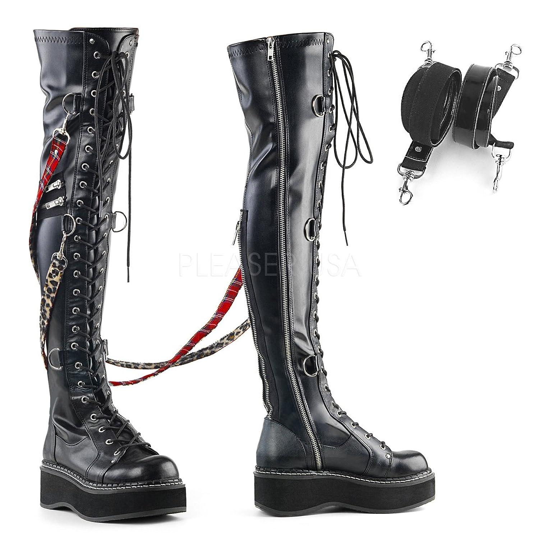 Demonia DEMONIAW Womens EMILY-377/BVL Boots B078MTCYMN 12 B(M) US
