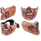 XSC Army Half-face Corpse Walking Dead Zombie Skull Airsoft Paintball Tactical Protect Mask, looks better with a nice helmetand a goggle